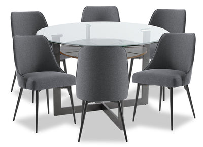 Olson 7-Piece Dining Room Set - Grey|Ensemble de salle à manger Olson 7 pièces - gris|OLSOGDP7