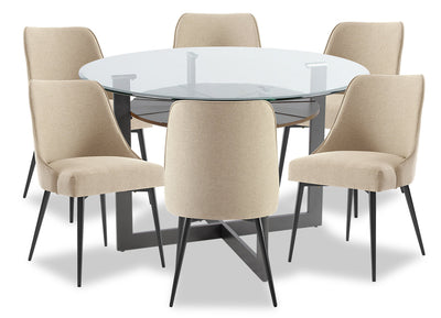 Olson 7-Piece Dining Room Set - Taupe|Ensemble de salle à manger Olson 7 pièces - taupe|OLSOTDP7
