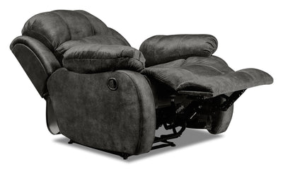 Omega Chenille Recliner - Grey|Fauteuil inclinable Omega en chenille - gris|OMEGAFRC