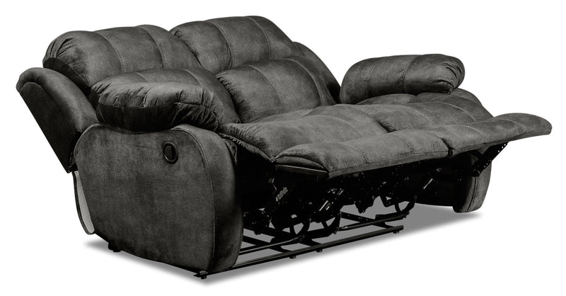 Omega Chenille Reclining Loveseat Grey Causeuse
