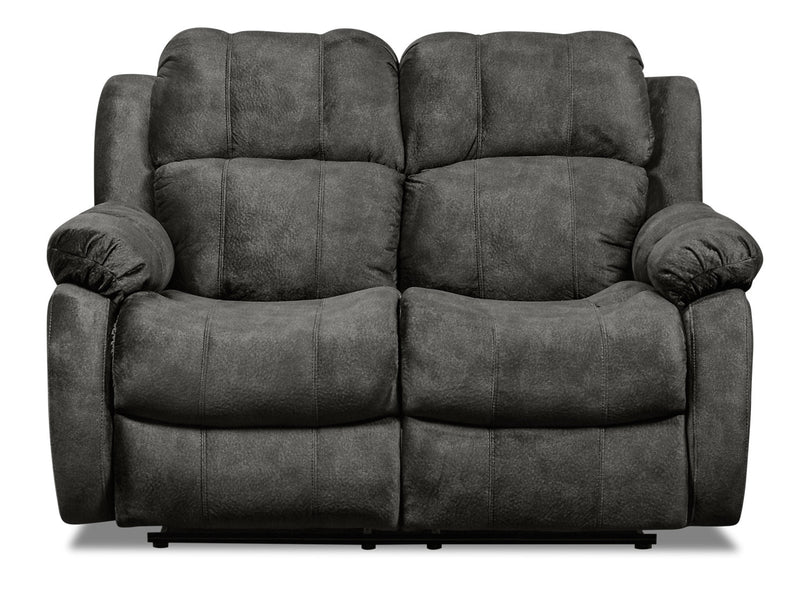 Omega Chenille Reclining Loveseat - Grey|Causeuse inclinable Omega en chenille - grise