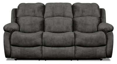Omega Chenille Reclining Sofa - Grey - {Contemporary} style Sofa in Grey {Pine}, {Plywood}