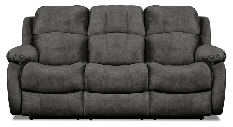 Omega Chenille Reclining Sofa - Grey|Sofa inclinable Omega en chenille - gris|OMEGAFRS