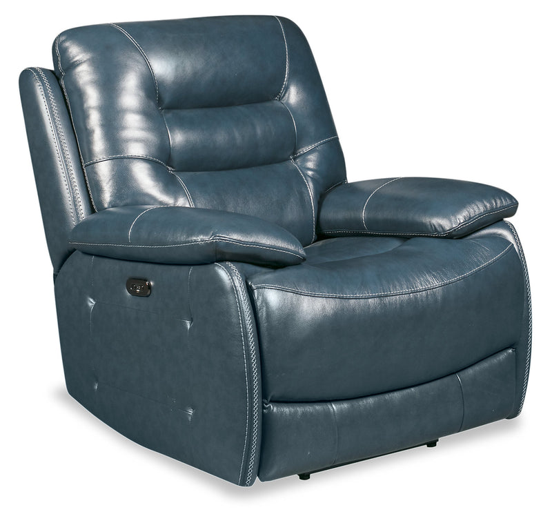 Orry Genuine Leather Power Recliner With Power Headrest