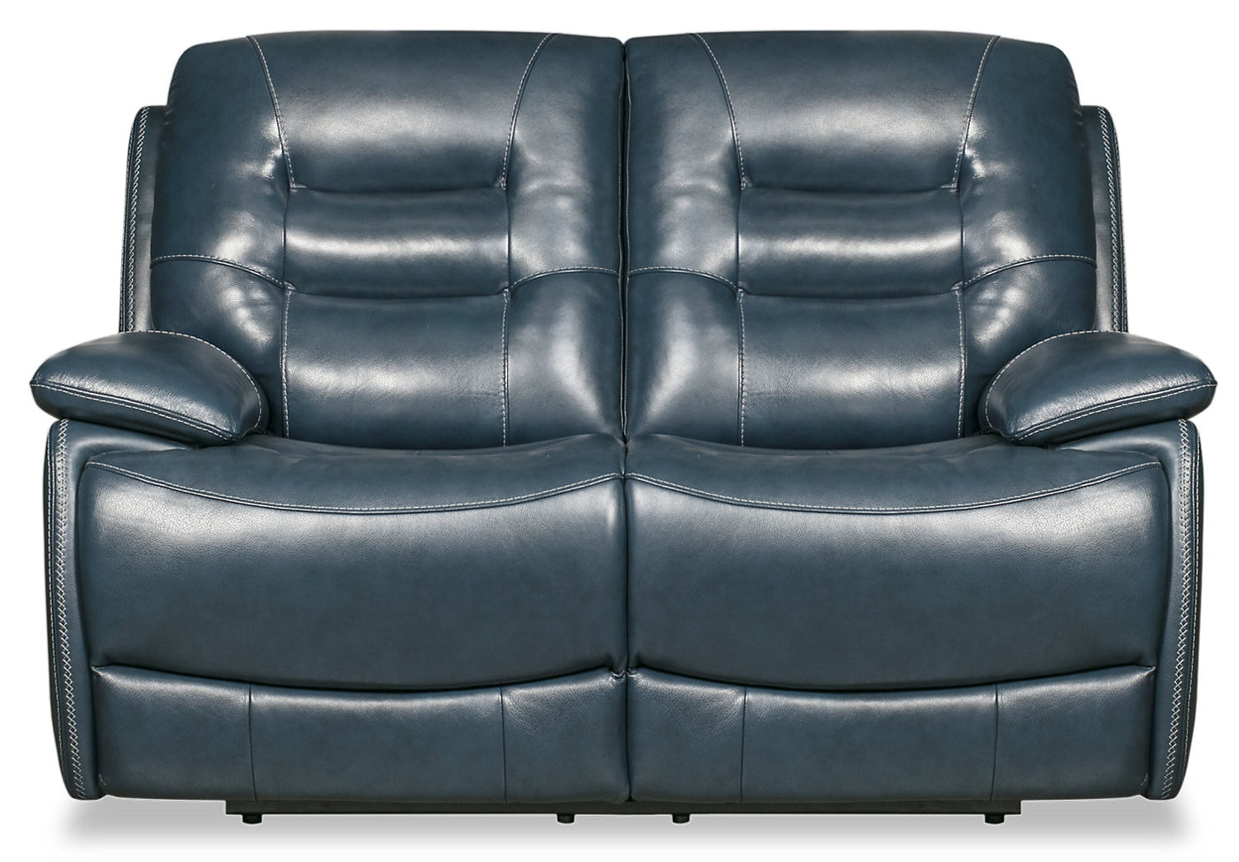 Orry Genuine Leather Power Reclining Loveseat With Power Headrest The Brick