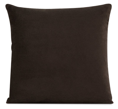 Designed2B Textured Polyester Accent Pillow - Plush Chocolate|Coussin décoratif Design à mon image en polyester texturé - Plush chocolat|P21C2479