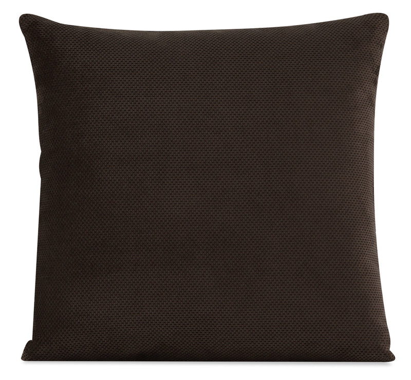 Designed2B Textured Polyester Accent Pillow - Plush Chocolate|Coussin décoratif Design à mon image en polyester texturé - Plush chocolat
