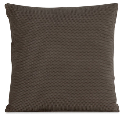 Designed2B Textured Polyester Accent Pillow - Plush Dark Ash|Coussin décoratif de la collection Design à mon image en polyester texturé - Plush cendre foncée|P21C2679