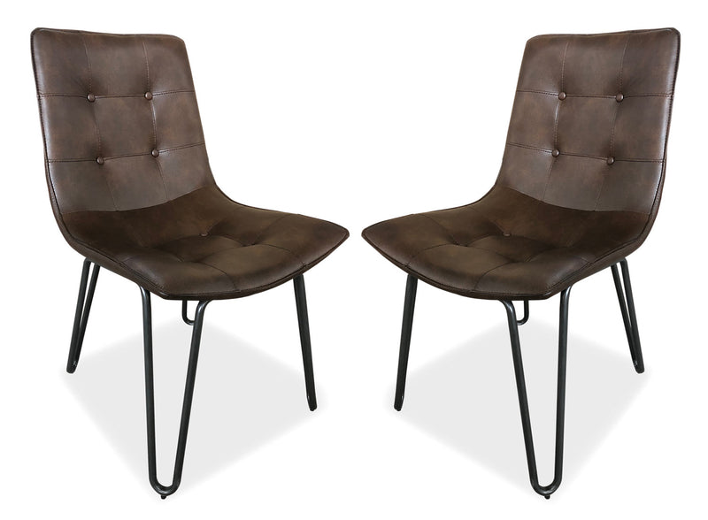 Page Dining Chair, set of 2 - Brown|Chaise de salle à manger Page, ensemble de 2 - brune|PAGECDSP