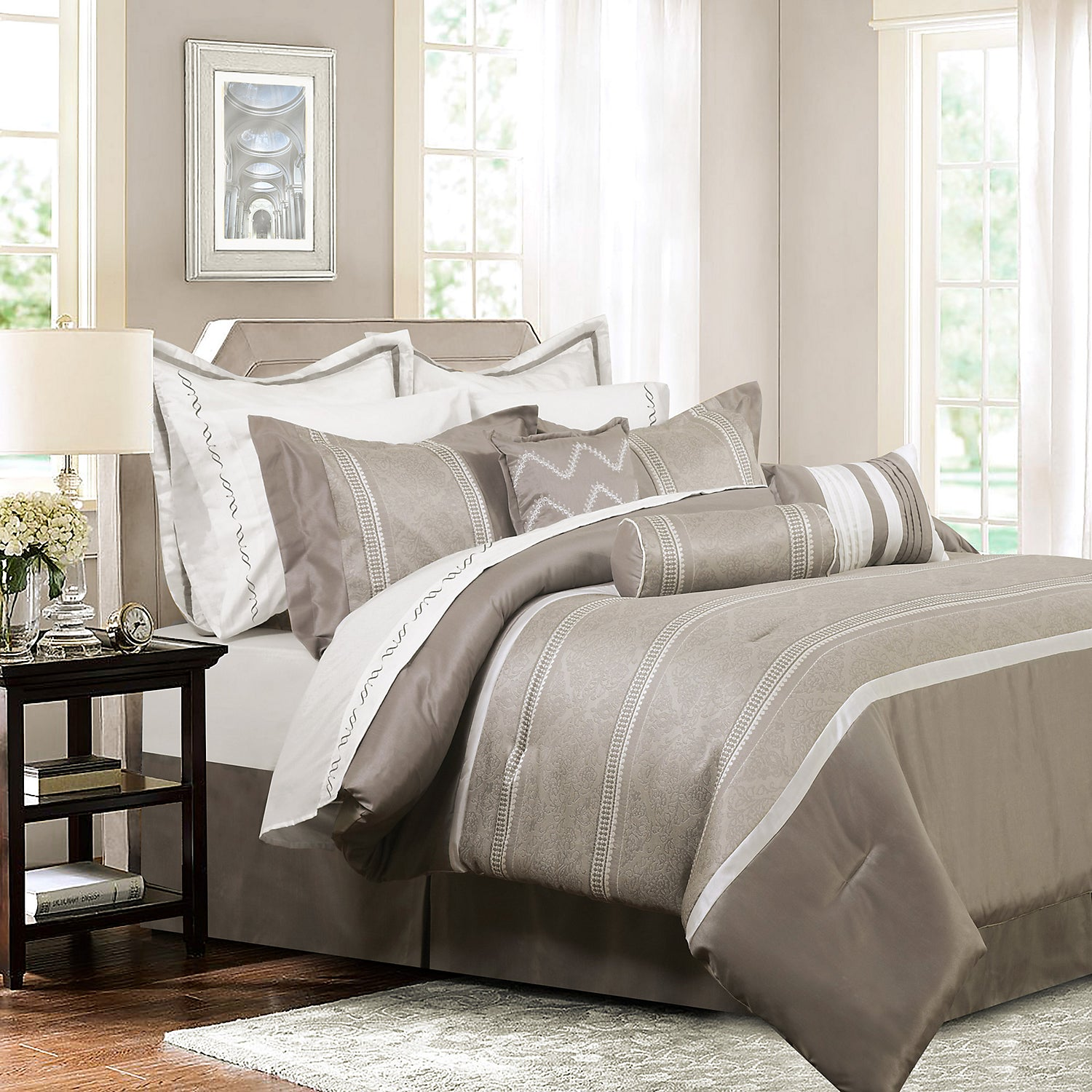 Palermo 7 Piece King Comforter Set The Brick
