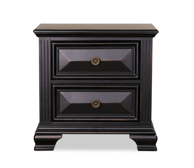 Passages Nightstand - Black|Table de nuit Passages - noire|PASSB2NS