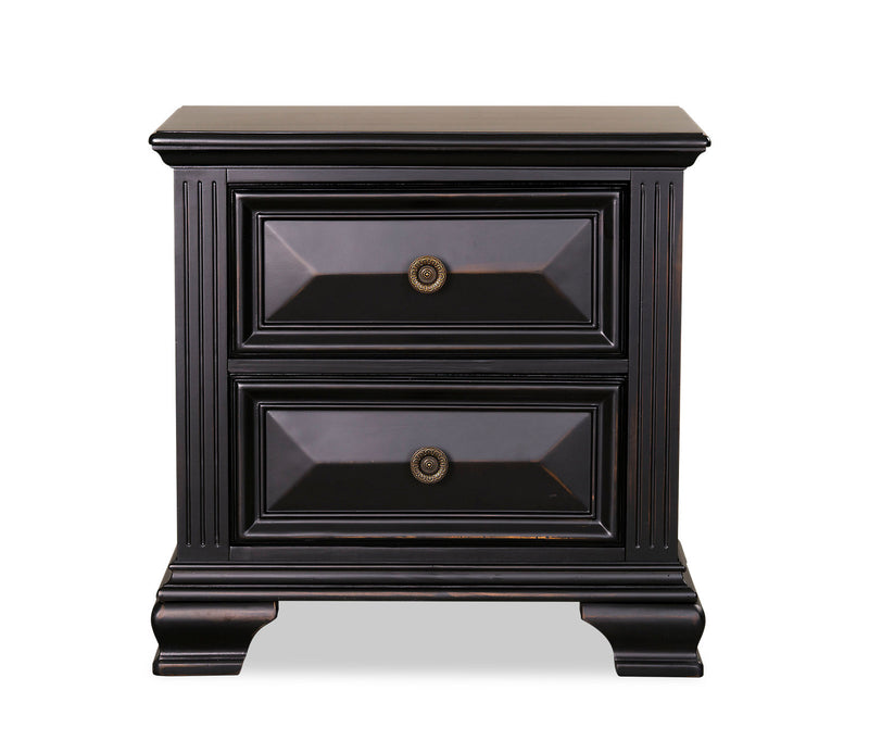 Passages Nightstand - Black|Table de nuit Passages - noire