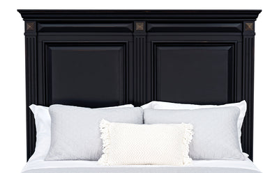 Passages Queen Headboard - Black|Tête de lit Passages pour grand lit - noire|PASSBQHB
