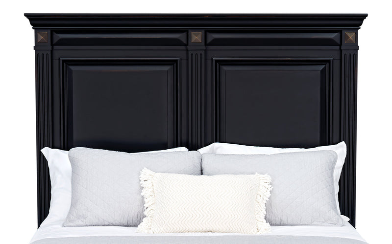 Passages Queen Headboard - Black|Tête de lit Passages pour grand lit - noire