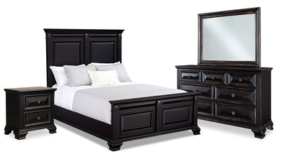 Passages 6-Piece Queen Bedroom Package - Black|Ensemble de chambre à coucher Passages 6 pièces avec grand lit - noir|PASSBQP6