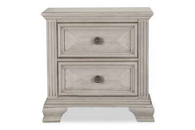 Passages Nightstand - White|Table de nuit Passages - blanche|PASSW2NS