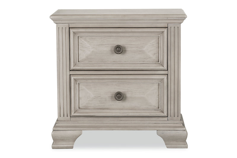 Passages Nightstand - White|Table de nuit Passages - blanche
