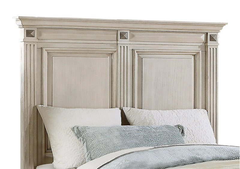 Passages Queen Headboard - White|Tête de lit Passages pour grand lit - blanche