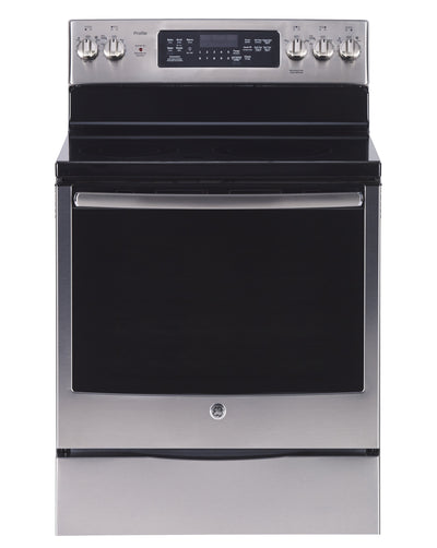 GE Profile 6.2 Cu. Ft. True Convection Freestanding Electric Range - PCB905SPSS - Electric Range in Stainless Steel