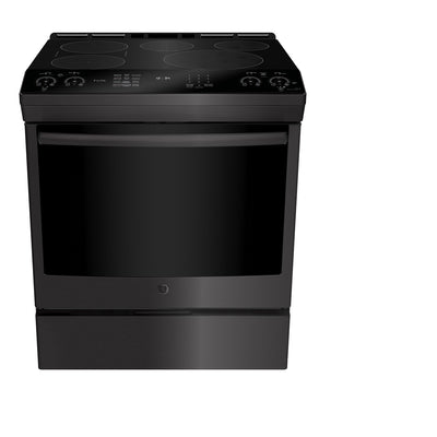 GE Profile 5.3 Cu. Ft. Slide-In 5-Element Smooth-Top Electric Induction Range - PCHS920BMTS - Electric Range in Black Stainless Steel