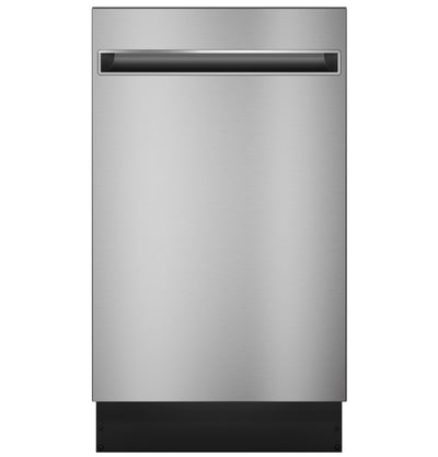 "GE Profile 18"" Built-In Dishwasher with Stainless Steel Tub - PDT145SSLSS - Dishwasher in Stainless Steel"