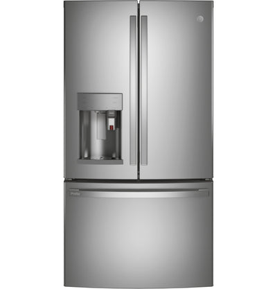 GE Profile 27.7 Cu. Ft. Smart French-Door Refrigerator with Keurig® K-Cup® Brewing System - PFE28PYNFS - Refrigerator in Fingerprint Resistant Stainless Steel