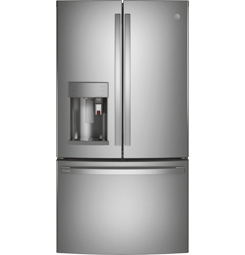GE Profile 27.7 Cu. Ft. Smart French-Door Refrigerator with Keurig® K-Cup® Brewing System - PFE28PYNFS | Réfrigérateur GE Profile 27,7 pi³ à portes françaises et système d'infusion K-Cup Keurig –PFE28PYNFS | PFE28PFS