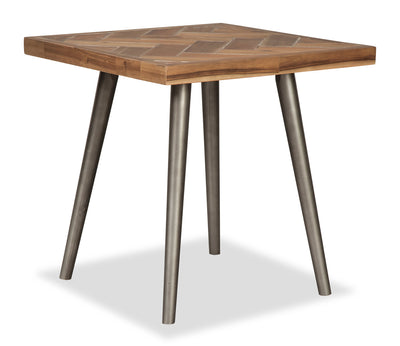 Piper End Table - Contemporary style End Table Solid Hardwoods, Acacia