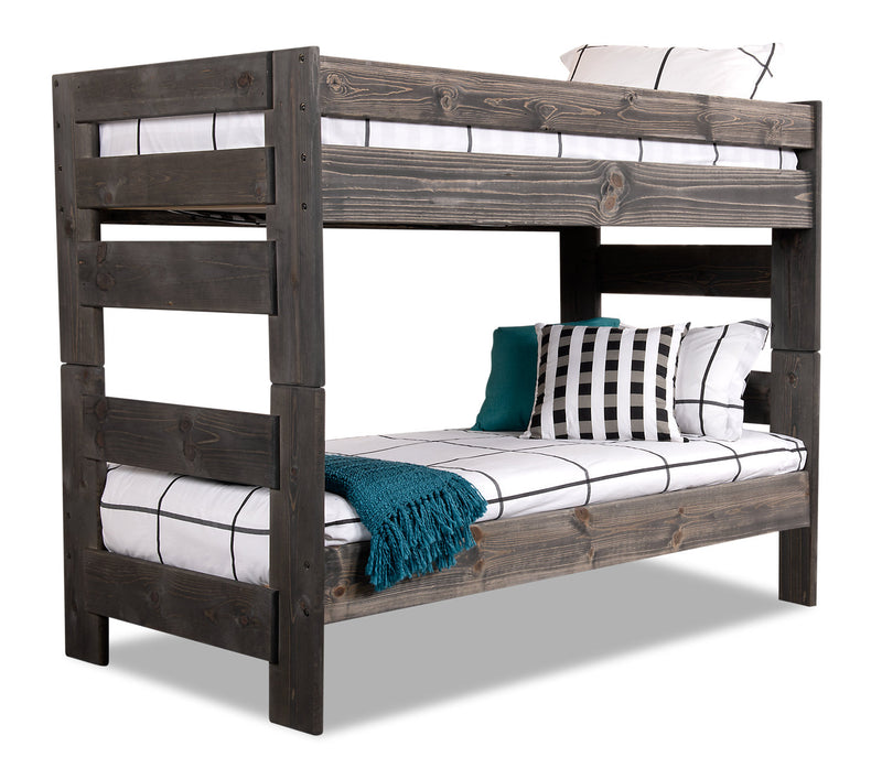 piper twin twin bunkbed the brick. Black Bedroom Furniture Sets. Home Design Ideas