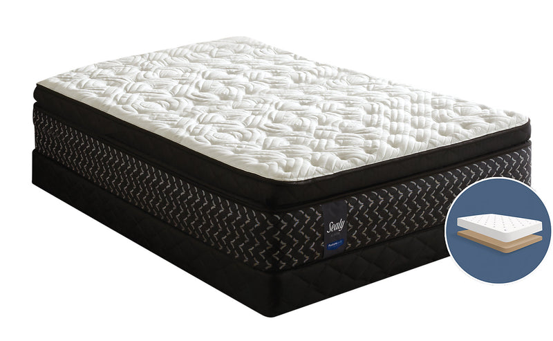 Sealy Posturepedic Penfold Euro Pillow-Top Low-Profile Twin Mattress Set|Ensemble matelas à Euro-plateau épais à profil bas Penfold Posturepedic de Sealy pour lit simple