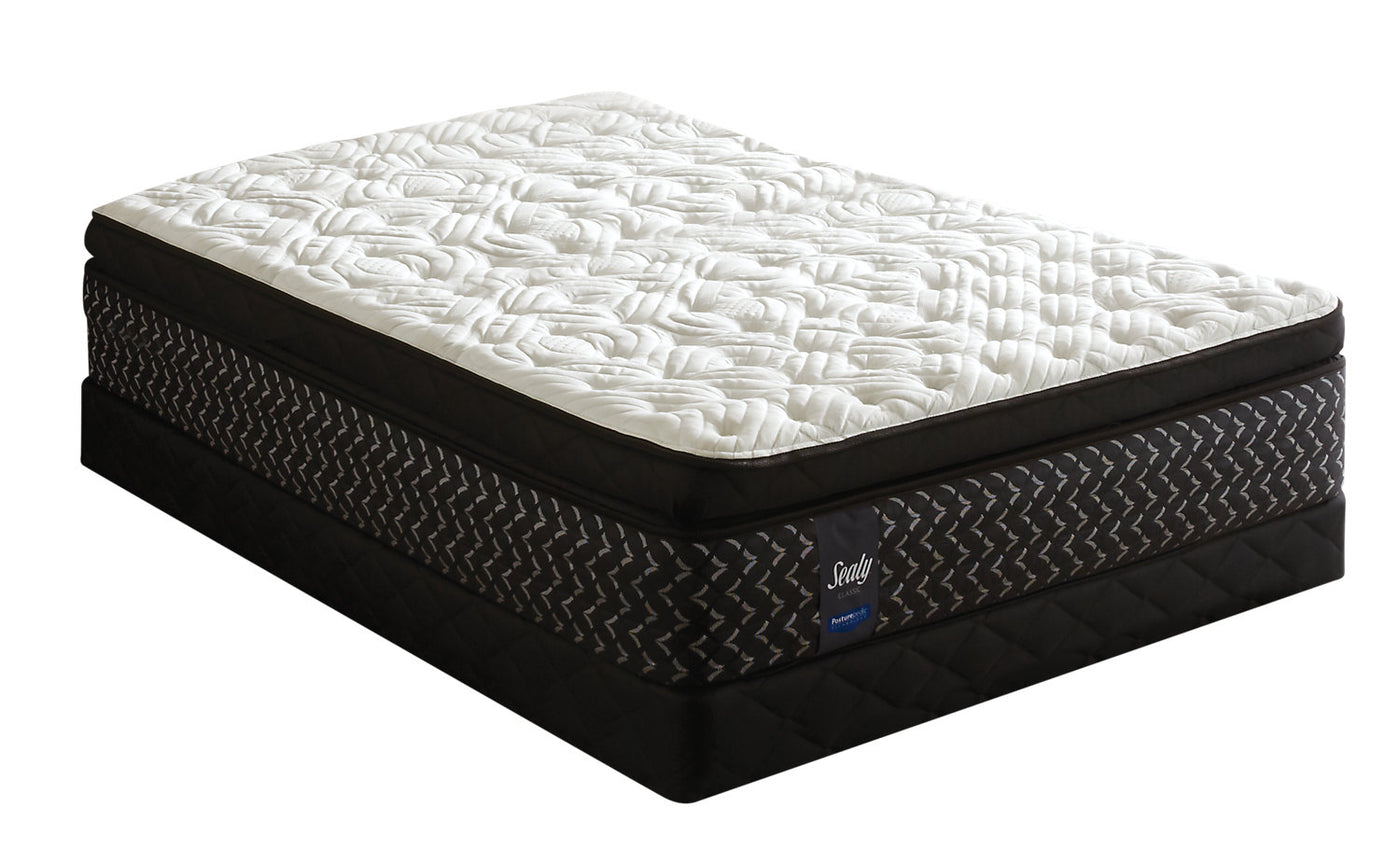Sealy Posturepedic Penfold Euro Pillow Top Twin Mattress Set The Brick