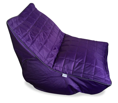 Poppy Fabric Beanbag Chair - Purple|Fauteuil poire Poppy en tissu - violet|POPPPUBB
