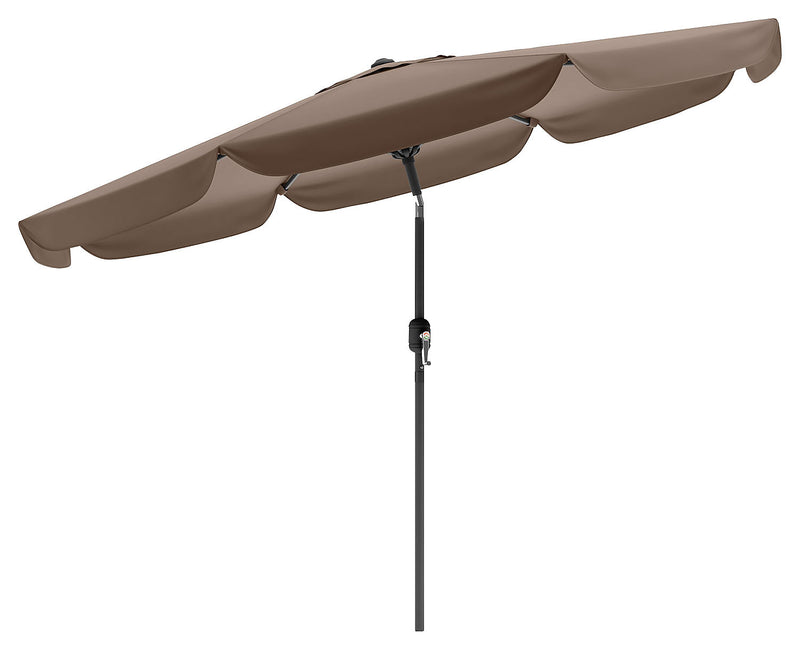 Tilting-Top Patio Umbrella – Sandy Brown|Parasol à dessus inclinable pour la terrasse - brun sable