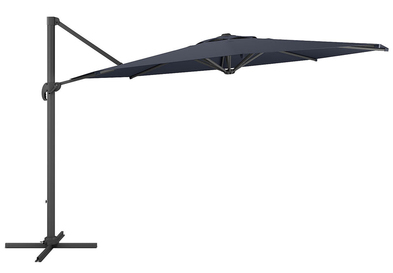 Offset Patio Umbrella – Black|Parasol excentré pour la terrasse - noir