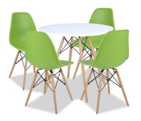 Prato 5-Piece Round Dining Package - Green