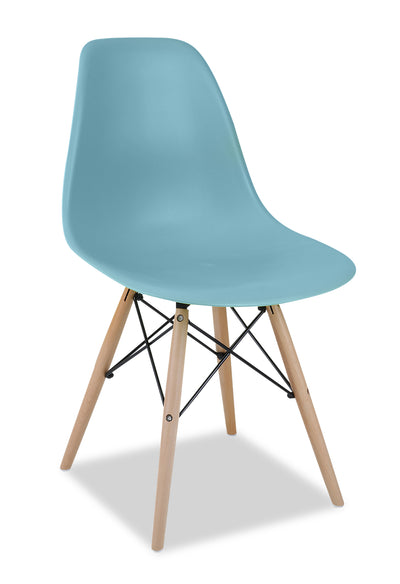 Prato Dining Chair - Aqua - {Retro} style Dining Chair in Aqua {Medium Density Fibreboard (MDF)}, {Beech}, {Plastic}