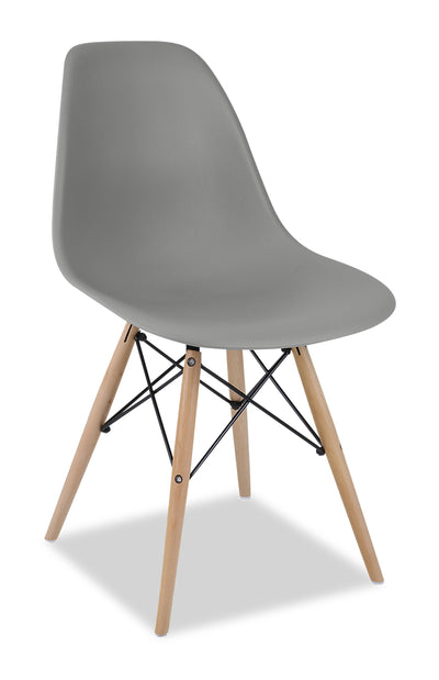 Prato Dining Chair - Grey - {Retro} style Dining Chair in Grey {Medium Density Fibreboard (MDF)}, {Beech}, {Plastic}