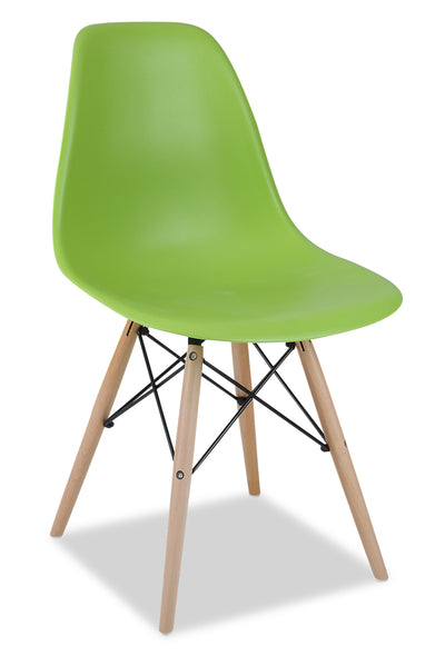 Prato Dining Chair - Green - {Retro} style Dining Chair in Green {Medium Density Fibreboard (MDF)}, {Beech}, {Plastic}