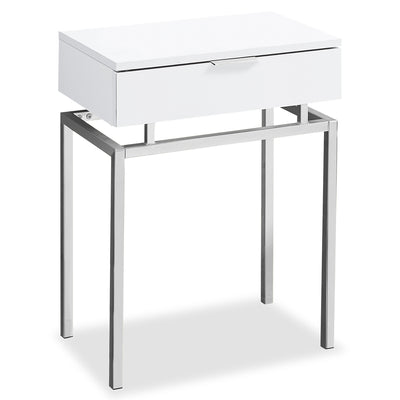 Press White Accent Table|Table d'appoint Press blanche|PREWHACC