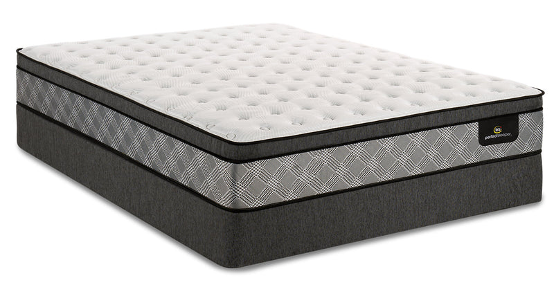 Serta Perfect Sleeper Canada's Anniversary True Eurotop Queen Mattress Set|Ensemble matelas à Euro-plateau True Canada's Anniversary Perfect SleeperMD de Serta pour grand lit|PSTRUEQP