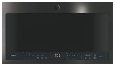 GE 2.1 Cu. Ft. Over-the-Range Microwave – PVM2188BMTSC - Over-the-Range Microwave in Black Stainless