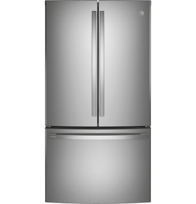GE Profile 23.1 Cu. Ft. Counter-Depth French-Door Refrigerator - PWE23KYNFS - Refrigerator in Fingerprint Resistant Stainless Steel
