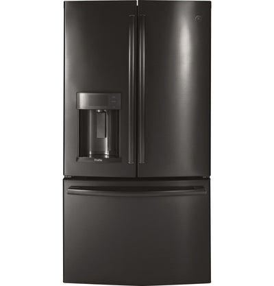 GE Profile 22.1 Cu. Ft. Door-in-Door French-Door Refrigerator - PYD22KBLTS - Refrigerator in Fingerprint Resistant Black Stainless Steel