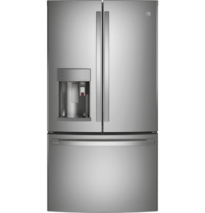 GE Profile 22.1 Cu. Ft. French-Door Refrigerator with Keurig® K-Cup® Brewing System - PYE22PYNFS - Refrigerator in Fingerprint Resistant Stainless Steel