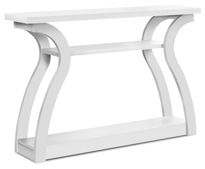 Quinn Sofa Table - White|Table de salon Quinn - blanche|QUIWHSTB