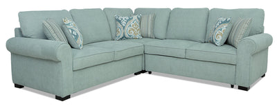 Randal 3-Piece Fabric Right-Facing Sleeper Sectional - Seafoam|Sofa-lit sectionnel de droite Randal 3 pièces en tissu - écume de mer|RANDS3SR