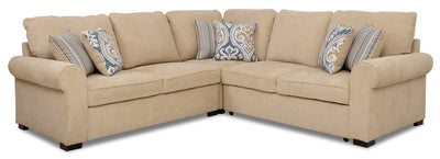 Randal 3-Piece Fabric Right-Facing Sleeper Sectional - Taupe|Sofa-lit sectionnel de droite Randal 3 pièces en tissu - taupe|RANDT3SR