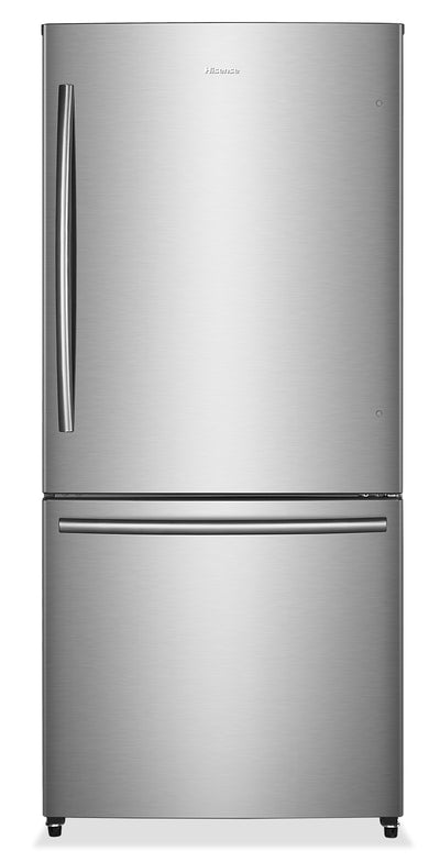 Hisense 17 Cu. Ft. Bottom-Mount Counter-Depth Refrigerator – RB17N6DSE - Refrigerator in Stainless Steel