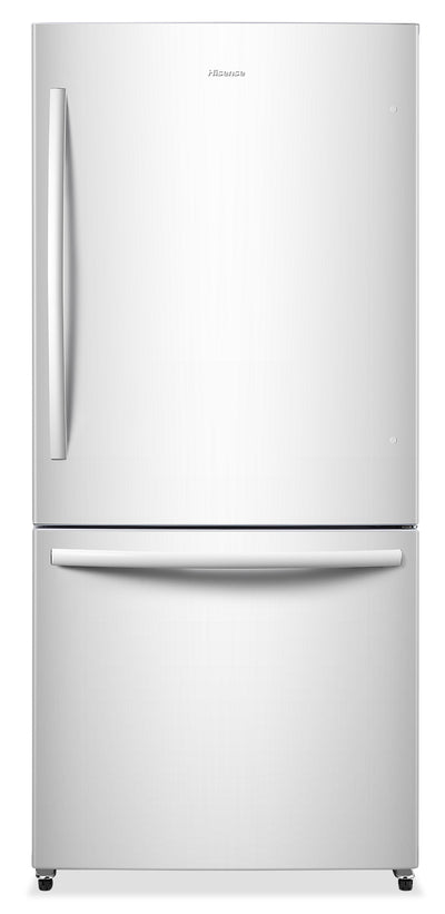 Hisense 17 Cu. Ft. Bottom-Mount Counter-Depth Refrigerator – RB17N6DWE - Refrigerator in White