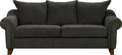 Reese Chenille Queen Sofa Bed – Dark Grey - Contemporary style Sofa Bed in Dark Grey